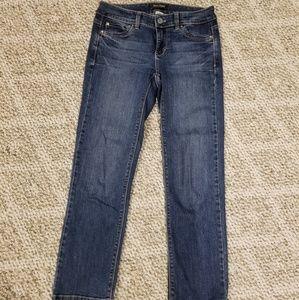 White House Black Market Blanc Crop Jeans Sz 0